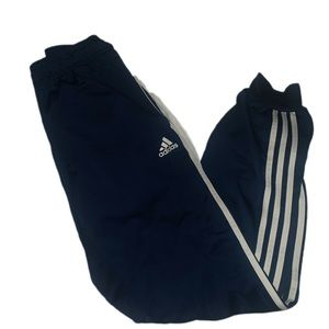 navy blue adidas cuffed track pants